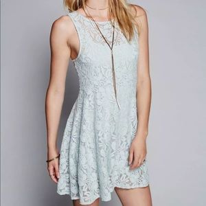 Free People Miles of Lace Sleeveless Dress Large